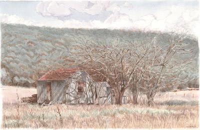 Old house near Mount Ossa